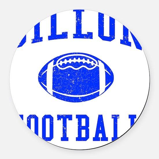 Dillon Football Round Car Magnet