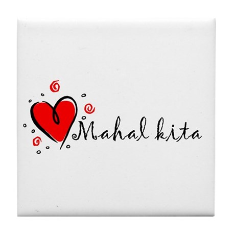 """I Love You"" [Tagalog] Tile Coaster"