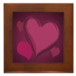 Love Hearts Art Framed Tile for Valentines