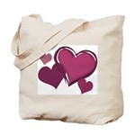 Love Hearts Art Tote Bag for Valentine's Day
