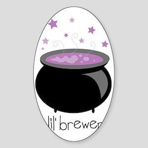 Lil' Brewer Cauldron Sticker (Oval)