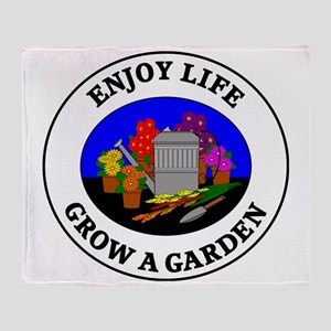 garden1 Throw Blanket