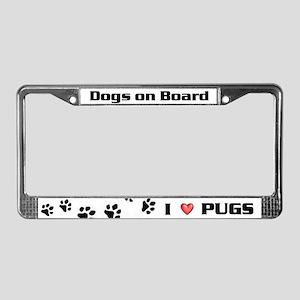pug, License Plate Frame