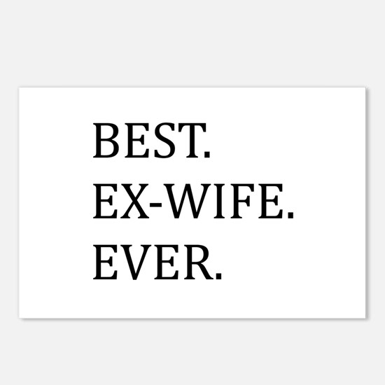 Best Ex-wife Ever Postcards (Package of 8)