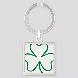 shamrock_outline Square Keychain