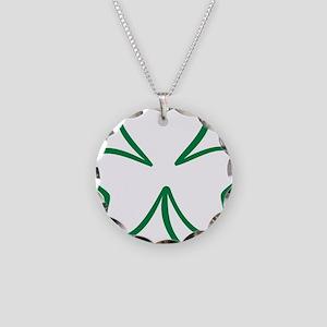 shamrock_outline Necklace Circle Charm