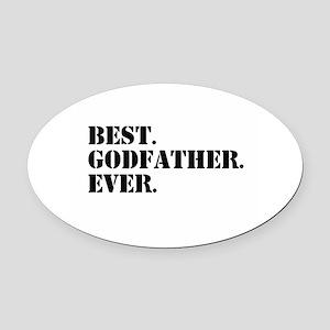 Best Godfather Ever Oval Car Magnet