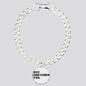 Best Godfather Ever Charm Bracelet, One Charm