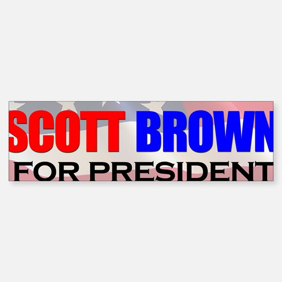ScottBrownPresident Sticker (Bumper)