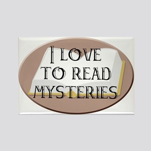 I Love to Read Mysteries Rectangle Magnet