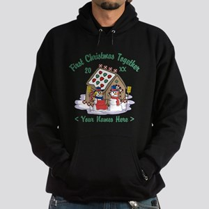 Personalize First Christmas Together Hoodie (dark)