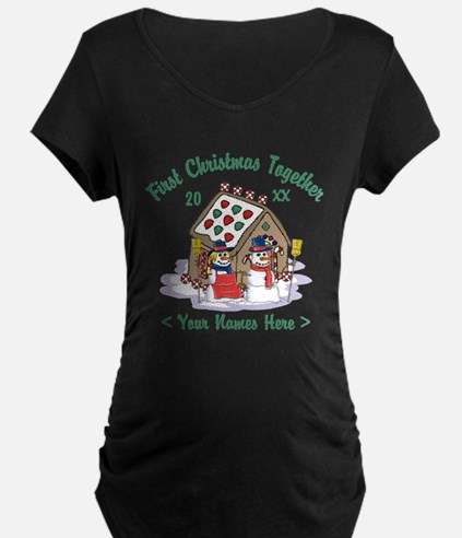 Personalize First Christmas Together T-Shirt