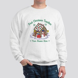 Personalize First Christmas Together Sweatshirt