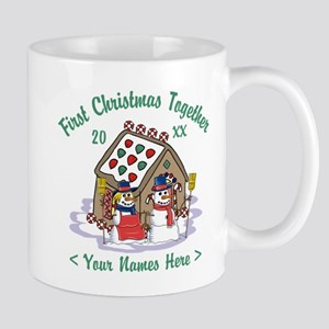Personalize First Christmas Together Mug