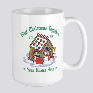 Personalize First Christmas Together Large Mug