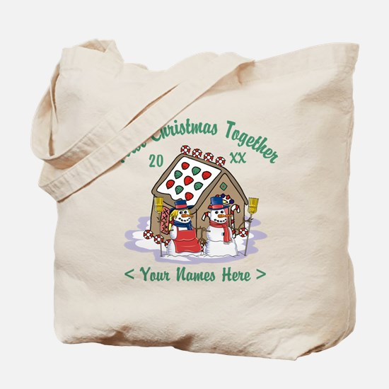 Personalize First Christmas Together Tote Bag
