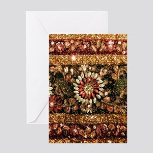 Beaded Indian Saree Photo Greeting Cards