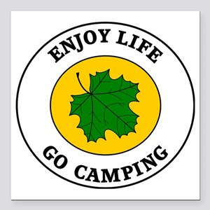 "camping5 Square Car Magnet 3"" x 3"""