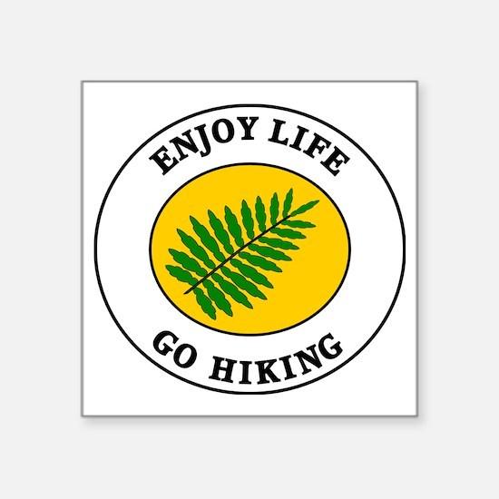 "hiking2 Square Sticker 3"" x 3"""
