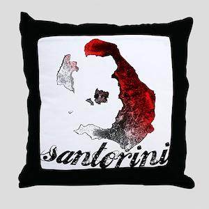 santorini_tee_light Throw Pillow