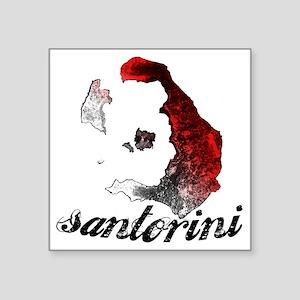 "santorini_tee_light Square Sticker 3"" x 3"""