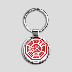 4-RED_lost Round Keychain
