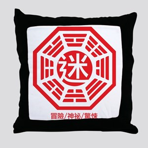 4-RED_lost Throw Pillow
