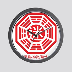 4-RED_lost Wall Clock
