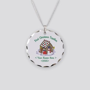 Personalize First Christmas Together Necklace Circ