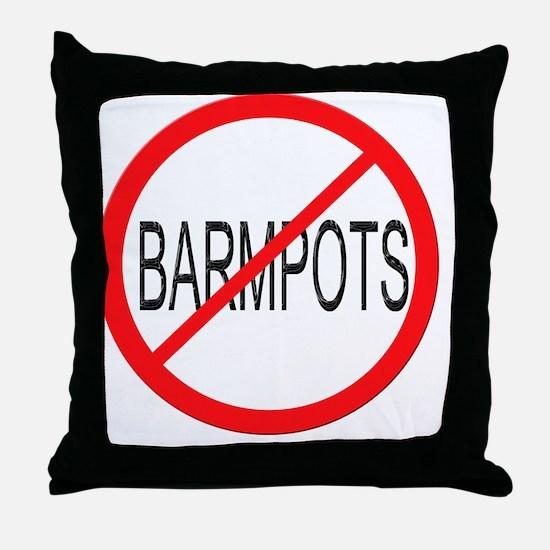 road no barmpots Throw Pillow