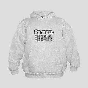 Retirement Text Personalized Sweatshirt