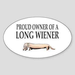 Long Wiener Dachshund Oval Sticker