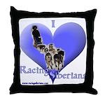 I Love Racing Siberians Throw Pillow