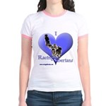 I Love Racing Siberians Jr. Ringer T-Shirt