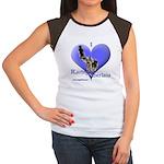 I Love Racing Siberians Women's Cap Sleeve T-Shirt