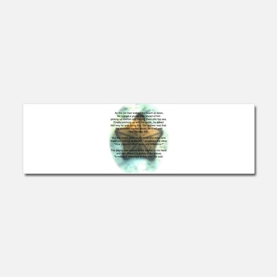 2-Starfish_play2.3.png Car Magnet 10 x 3