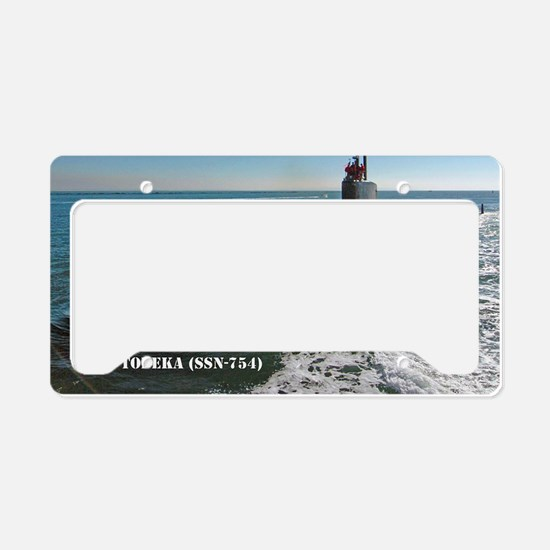 topeka framed panel print License Plate Holder