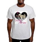 I Love Racing Siberians Ash Grey T-Shirt