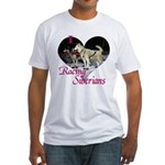 I Love Racing Siberians Fitted T-Shirt