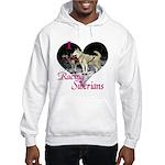 I Love Racing Siberians Hooded Sweatshirt