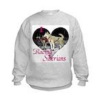 I Love Racing Siberians Kids Sweatshirt