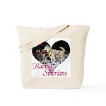 I Love Racing Siberians Tote Bag