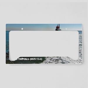 topeka large framed print License Plate Holder