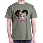 I Love Racing Siberians Dark T-Shirt