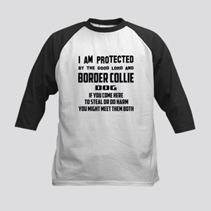I am protected by the good lord Kids Baseball Tee