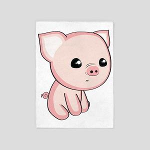 Lil Piggy 5'x7'Area Rug