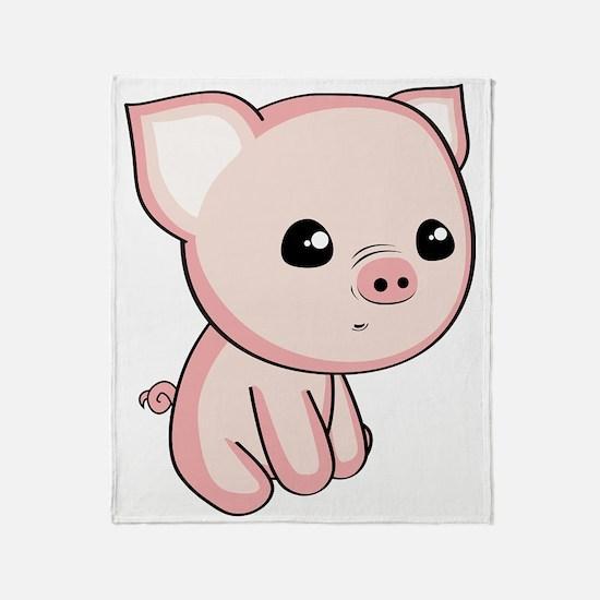 Lil Piggy Throw Blanket