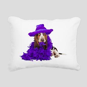 Basset DressUpTshirt Rectangular Canvas Pillow