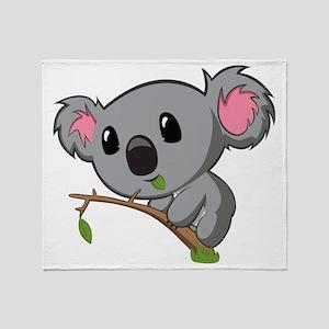 Hungry Koala Throw Blanket