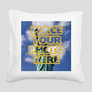 Add Photo Square Canvas Pillow